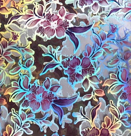 Transferfolie- Blumen rosa irisierend