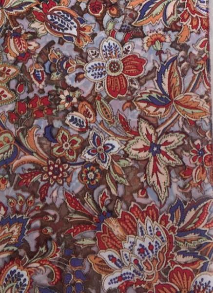 Transferfolie- Blumen Rot - beige