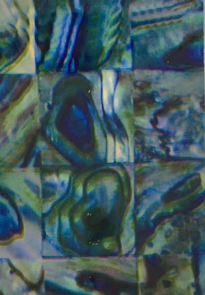 Transferfolie- Perlmutt blau grün grau