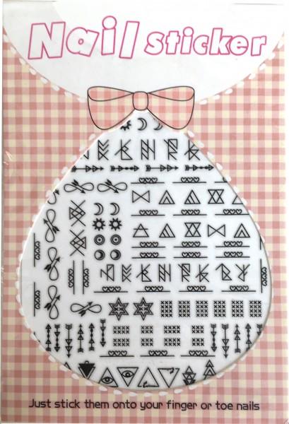 Nailart Sticker-symetrische Formen-Copy