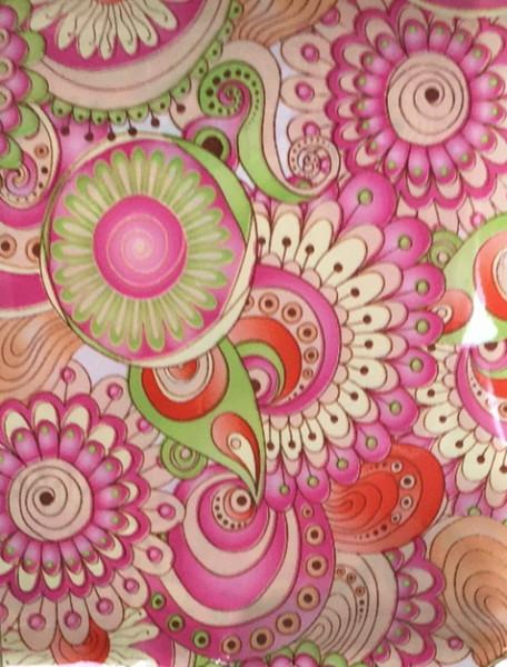 Transferfolie- Blumen rosa - hellgrün