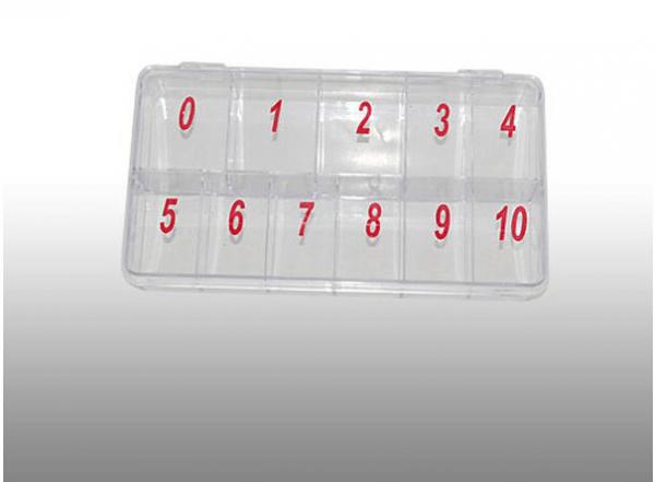 Tipbox Nummerierung 0-10 transparent