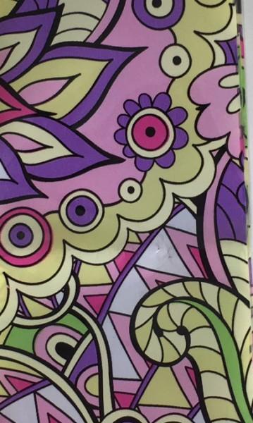 Transferfolie- Hippie lila rosa gelb